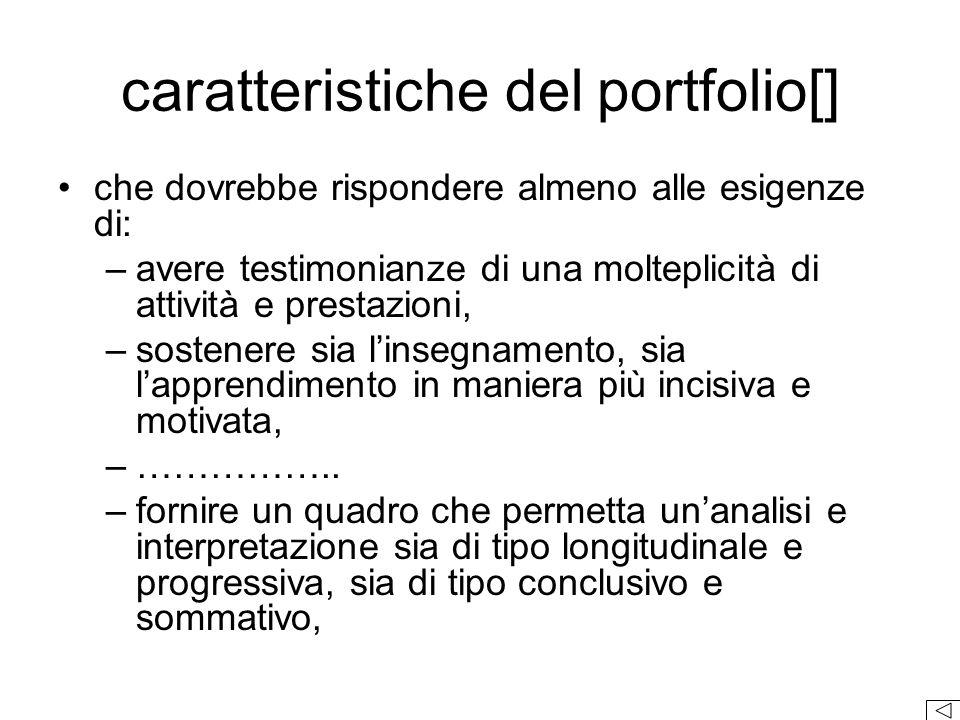 caratteristiche del portfolio[]